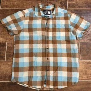 THE NORTH FACE POLO SHIRT Men's Gingham Medium M